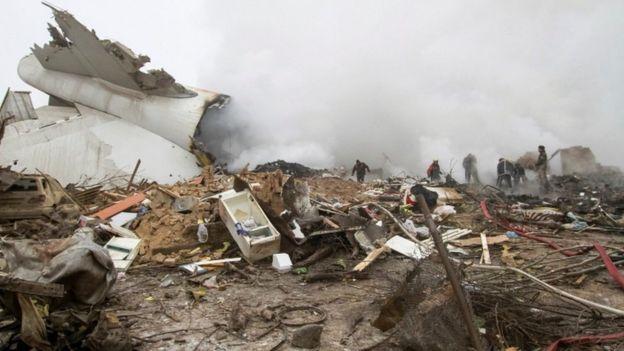 Turkish Cargo Plane Crashes Near Bishkek