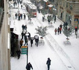 Beyoğlu' nda Kar