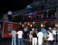 Club Anastasia Otel'de çıkan yangının paniği atlatıldı