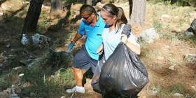 rehberler çöp topladı