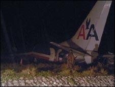 Amerikan Havayolları'na ait bir uçak düştü