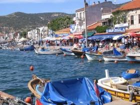 Foça turist rekoru kırdı