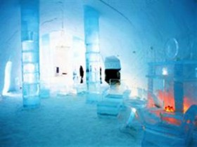 Rusya'da bir buz otel