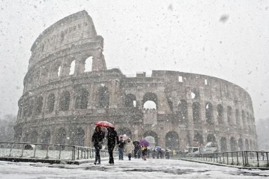 Roma Kar Yağışı