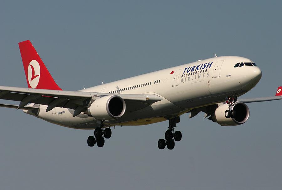 Türk hava yolları nın israil e düzenlediği uçak seferlerini