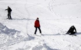 Kayak severler Uludağ'a akın etti