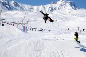 Erciyes'te kar kalınlığı 185 santimetreye ulaştı