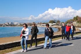 Turistler yazdan kalma günü değerlendirdi