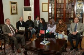 Cibutili turizmciler Büyükşehir Belediyesi´ni ziyaret etti