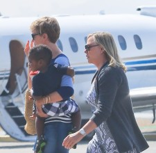 Charlize Theron And Her Son Jackson Theron Leave LA