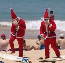 Noel-Babalar-Sidneyde-Plajda