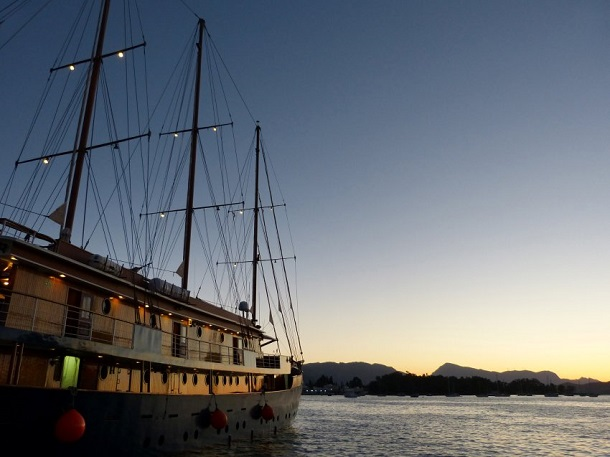 Galileo teknesi adalar arası yolculuk yapan butik otel
