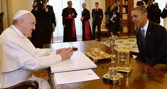 Obama Roma Gezisi'nde Papa ile görüştü