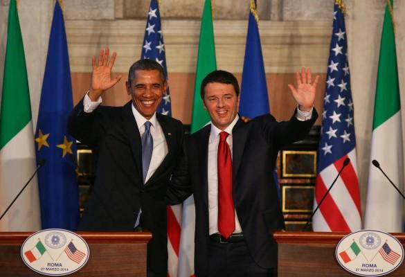 Obama Roma'da Renzi ile görüştü