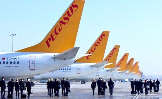 pegasus yolcu sayısında artıs kaydetti