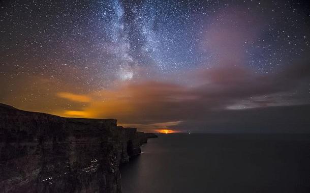 Batı İrlanda kıyıları Clifs Moher