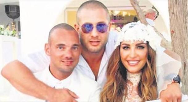 Wesley Sneijder ve eşi Yolanthe Cabau