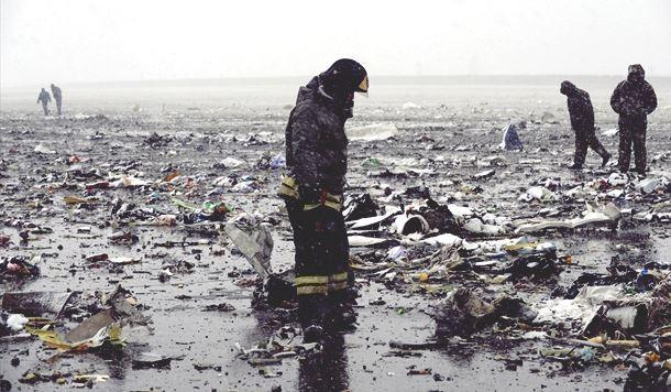 FlyDubai uçağı Rusya'da düştü