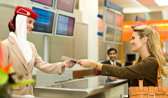 Emirates'ten Check-in işlemlerine düzenleme