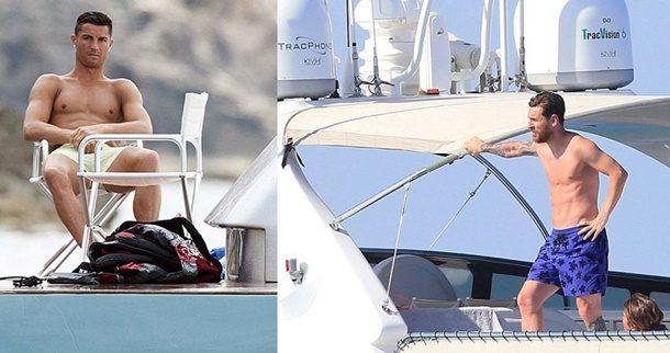 Messi ve Ronaldo, İspanyol turizminin gözdesi İbiza'da tatildeler