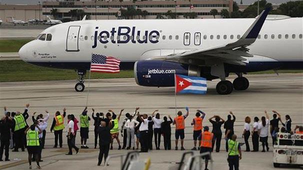 ABD ile Küba arasında tarifeli uçuşlar yeniden başladı