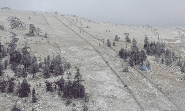 Kartalkaya Kayak Merkezinde Kar Yağışı Başladı