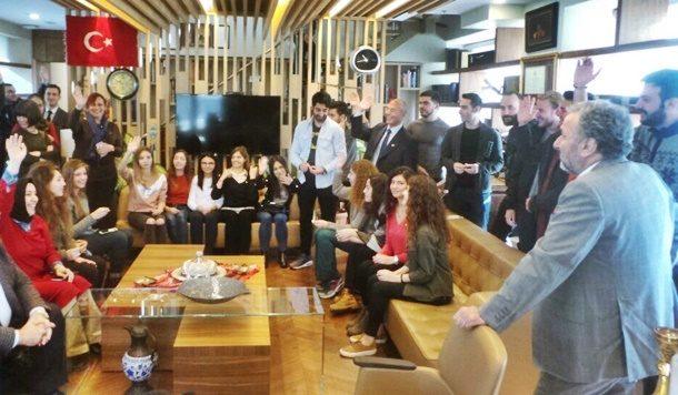 İstanbul Üniversitesi İktisat Fakültesi ve Turizm İşletmeciliği bölümü öğrencilerinden TÜRSAB ziyareti