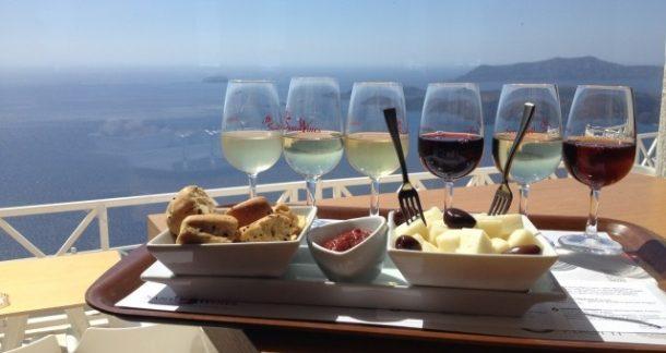Santorini şarapları