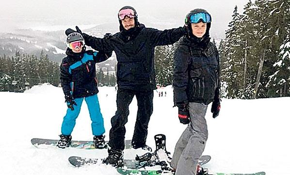 Beckham Ailesi Kayak Tatilinde!