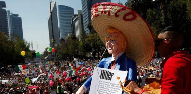 meksikadan trumpa protesto turizmtatilseyahat
