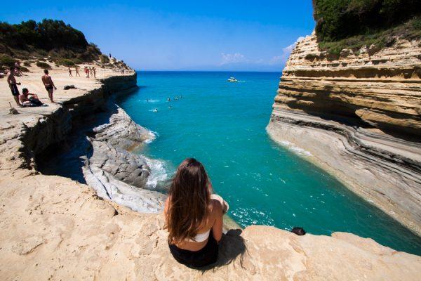 Aşk Kanalı Plajı Korfu