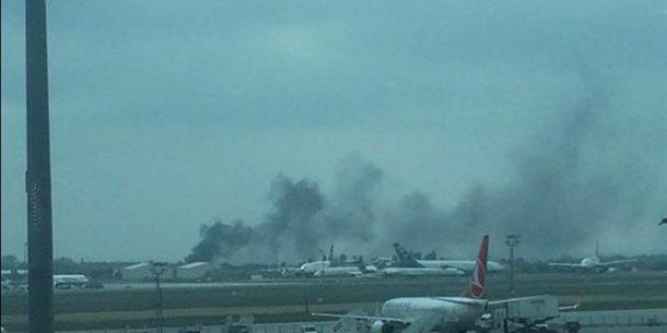 Ataturk Havalimanı Korkutan Duman