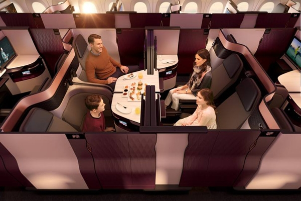 qatar hava yollari qsuite business class