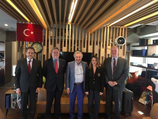 Yunanistan heyeti TÜRSAB Başkanı Başaran Ulusoy ile görüşmede