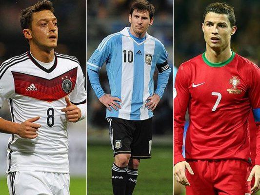 Ronaldo Özil Messi