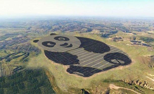 Çin'de Panda Biçiminde GES Büyük İlgi Topladı