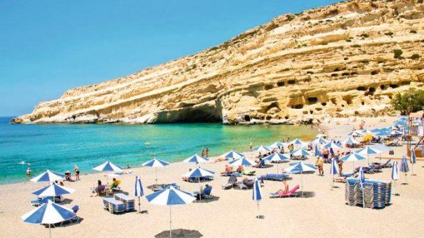 Matala Plajı Girit