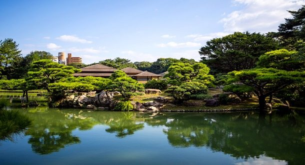 japonya Ritsurin-Bahçesi