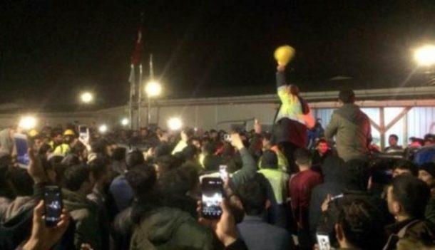 İsyan eden Üçüncü Havalimanı'nın işçileri eylem yaptı