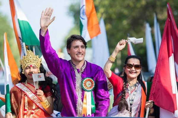 Justin-Tudeau Hindistanda