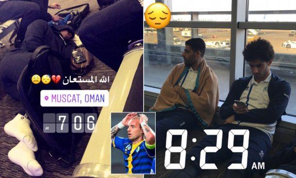 Sneijderin takımının uçağı 45 dakikalık yolu 18 saatte gitti