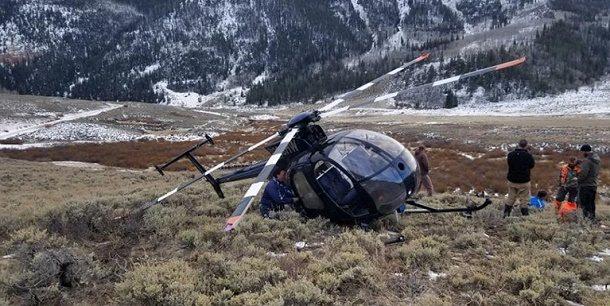 Utah'ta geyiğin çarptığı helikopter düştü!