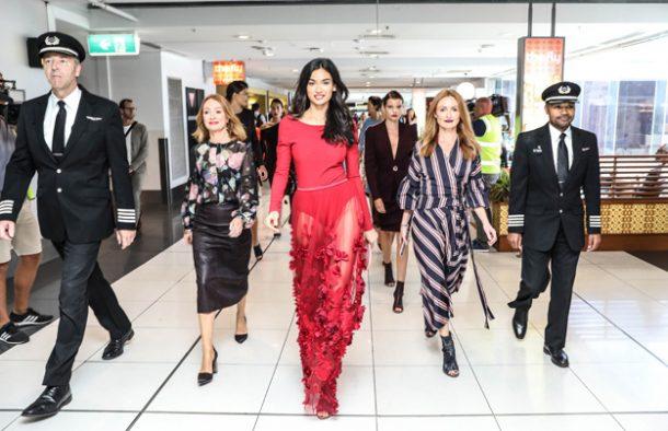 Virgin Australia uçağında 10 bin metrede moda tanıtımı