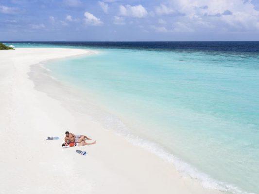Anantara Kihavah Maldivler plaj