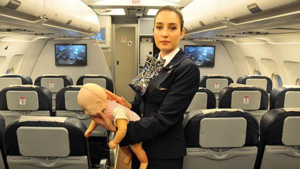 THYnin kabin memuru bebegin hayatıni kurtardı