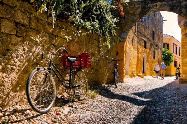 Yunan Adasi Rodos sokakları