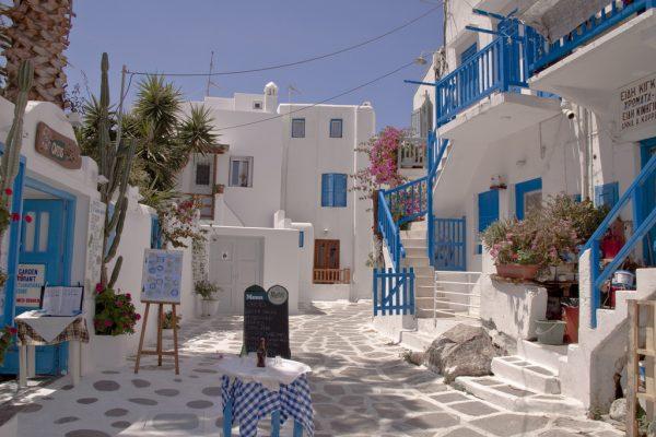 en coskulu Yunan adasi Mikonos