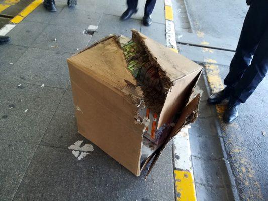 paket funye ile patlatildi