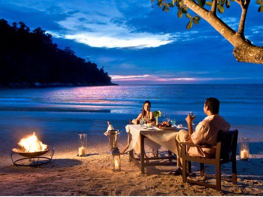 Tayland Koh Samui Bophut plajı balayı çiftleri