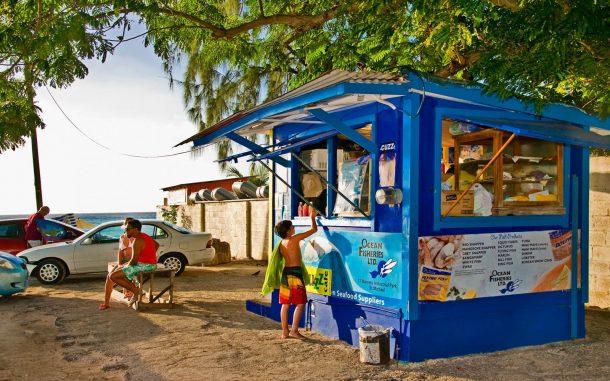 Cuz'un Balık Kulübesi'ni turist ziyaret etmekte.